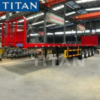China TITAN 40ft flatbed flat deck 3 axle china semi trailer for sale on sale
