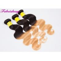Buy cheap Peruvian Virgin Ombre Colored Hair Extensions Natural Wavy 10 Inch - 30 Inch product