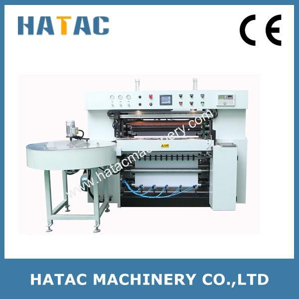 Cheap Cash Register Reel Slitting Machine,Thermal Paper Slitting Rewinding Machine,Fax Paper Roll Making Machine for sale