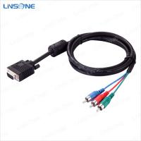 China Linsone High speed transmission black vga to 3rca cable on sale
