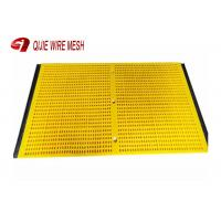 Quality Modular Tensioned Polyurethane Screen Panels Steel Frame Hooked Transverse And Longitudinal wholesale