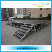China Used aluminum alloy portable stage with roofing for artist performance on sale