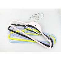 Quality Black Modern Clothes Hangers Plastic / Non Slip Trouser Hangers wholesale