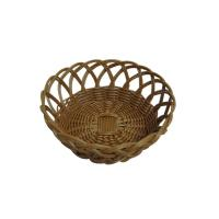 Quality Hand Made PP Rattan Bread Basket In Brown With Moistureproof wholesale
