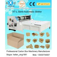 Quality Slotting Carton Folding Machine With Four Knives , Industrial Packaging Equipment wholesale