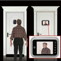 Cheap 3.5 inch Screen Digital Door Peephole Viewer Camera 120 Degree Wide Angle Video for sale