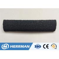 Quality High Voltage Black Conductive Tape Rubber Sector Cable Strip 9 - 35mm Thickness wholesale