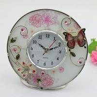 Quality Shinny Gifts Home Decorative Round Shape Desk Clock wholesale