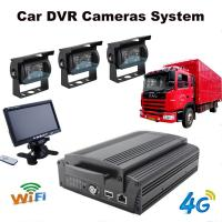 Quality 4Ch Hard Drive Car Dvr Recorder System With 3G / 4G / GPS / WIFI / G-Sensor wholesale