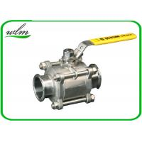 Quality Sanitary Manual Ball Valve , Three Piece Encapsulated Hygienic Ball Valves wholesale