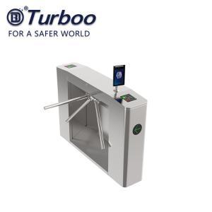 Quality RFID Three Arm Tripod Turnstile Gate , Vertical Tripod Turnstile For School wholesale