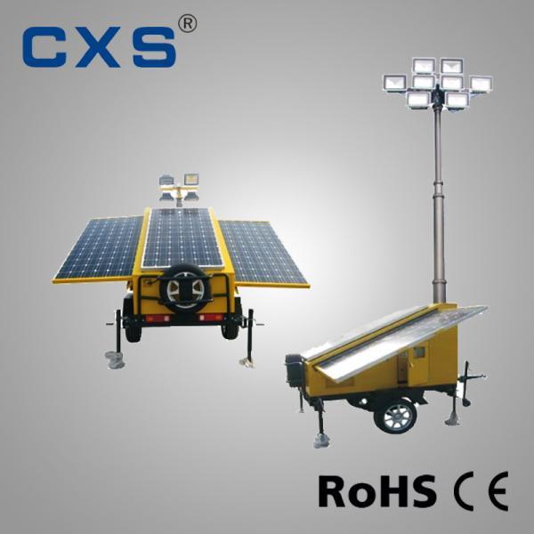 Cheap Trailer Mounted Diesel Solar Light Tower Telescopic