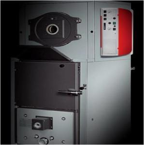 Quality High Standard Steel Wood Pellet Boiler With Water Tank Temperature Sensor Control wholesale