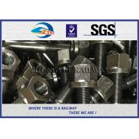 Buy cheap 10.9 grade Square Head Bolts for railway fastening system black oiled colors from wholesalers