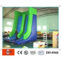 Quality Colorful High Density Inflatable Dry Slides / pool slide for commercial Advertising wholesale