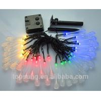 Quality outdoor lighting 5m 20leds solar water drop led christmas lights wholesale