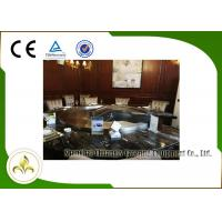 Quality Upper or Down Fume Exhaustion Gas Teppanyaki Grill Table 12 Seats Pipeline Natural Gas Heating wholesale