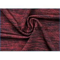 Quality Attractive Gamut of Wine Red Melange Fabric , Nylon Polyester Spandex Fabric wholesale