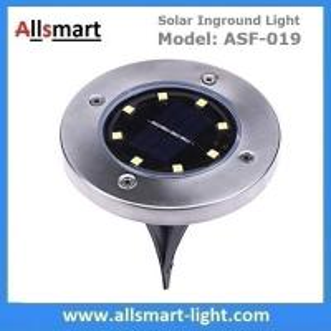 Buy cheap Solar Ground Lights Warm 8 LED Solar Inground Spotlights White Solar Pathway Stake Lights Outdoor Solar Landscape Light from wholesalers