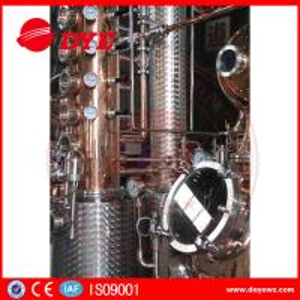 Cheap 66 Gal Industrial Copper Distillery Equipment Vodka Copper Alcohol Distiller for sale