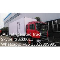 China JAC brand LHD 15tons refrigerated truck for fresh fruits and vegetables for sale, JAC brand 10-15tons cold room truck on sale