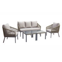 Quality 4 PCS UV Resistant Outdoor Rope Sofa Garden Furniture Sets wholesale