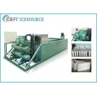 China Evaporative / Air / Water Cooled Ice Machine , Automatic Ice Machine Large Production on sale