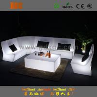 Outdoor Plastic Lighted LED Event Sofa With Wireless Remote Control