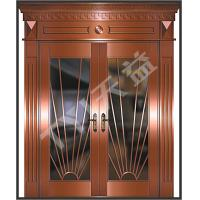 China copper doors with frame on sale