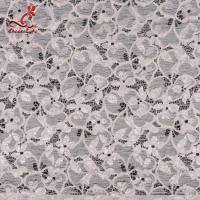 Quality Fashion Swiss Lace Fabric 140cm Width / Embroidered Bridal Lace Fabric wholesale