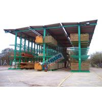 Quality 4650 Kg Per Arm Cantilever Steel Storage Racks Rows With Stacker Cranes wholesale