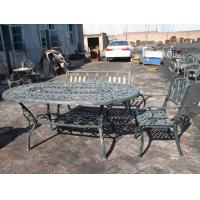 Quality Open Air Balcony Courtyard Cast Iron Garden Table And Chairs Modern Leisure wholesale