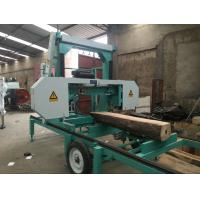 Quality Mobile Lumber Sawing Band Saw Sawmill MJ1000 portable horizontal band sawmill cutting dia.1000mm wholesale