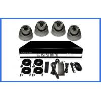Cheap H.264 HD POE CCTV Camera Kits , Metal Dome Camera Support Mobile for sale