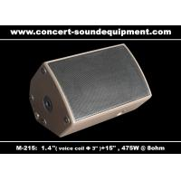 "Quality 475W Disco Sound Equipment 1.4"" + 15"" Stage Monitor , Full Range Speaker For Installation wholesale"