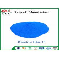 Quality Custom Textile Dyes And Chemicals Reactive Blue 14 Light Fastness 4 - 5 wholesale