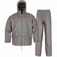 Quality PU Rainwear for Adults, Waterproof 3,000mm, Jacket and Pants wholesale