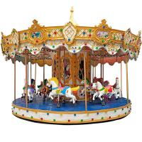 Quality Outdoor Luxury Swing Theme Park Carousel Horse Ride With LED Lights And Music wholesale