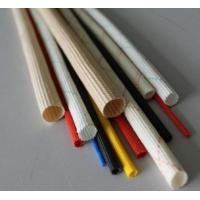 China PVC Acrylic Silicone Braided Fiberglass Sleeving For Cable Flame Retardant And Electrical Insulation Glass Fiber Sleeve on sale
