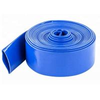 Quality 3 Inch PVC Blue Lay Flat Discharge Irrigation Hose For Agriculture Farming wholesale