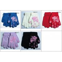 Quality kids' knitted gloves acylic gloves SK014-sk018 beautiful style children magic gloves wholesale