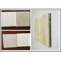 Travertine Stone  Aluminium Honeycomb Panel With Edge Sealed For Indoor Decoration