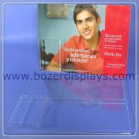 Acrylic Wallmount Sign Holder with Brochure Pocket for sale