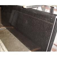 Cheap Black Galaxy Kitchen Granite Slab Countertops Cost Gold Copper Colored Specks for sale