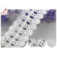 Quality Lace Supplier Beautify White Circle Embroidery Water Soluble Lace With 100% Cotton wholesale