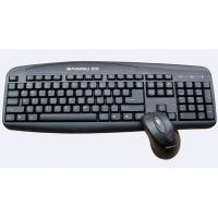 China 5V 100mA Black wireless USB Keyboards and mouse with Laser print letter WES-K-002 on sale