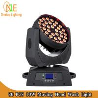 Quality Concert stage light 36pcs 10w 4IN1 Washer LED Moving head RGBW wash light wholesale