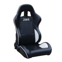 Quality Black / White Custom Racing Seats Fully Reclinable 89 * 69 * 55 cm wholesale
