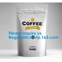 Quality High Barrier 16 oz Foil Stand up Zipper Pouch Coffee Bag with Valve,Resealable Food Storage Zipper Plastic Bag,Jar Kraft wholesale