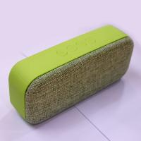 China stereo portable mini bluetooth speaker fabric cover hands-free wireless with fm on sale